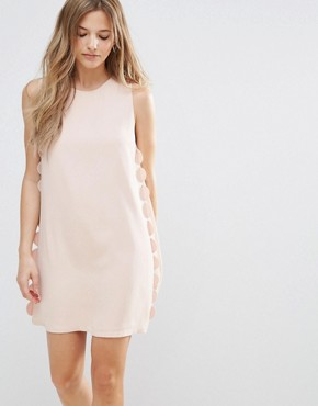 photo Scalloped Shift Dress by The English Factory, color Nude Pink - Image 1