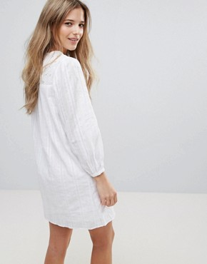 photo Long Sleeve Shift Dress by The English Factory, color White - Image 2