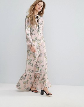 photo Daisy Print Maxi Ruffled Dress by The English Factory, color English Daisy - Image 1