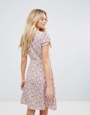 photo Flowa Ditsy Print Dress by Y.A.S, color Withered Rose - Image 2