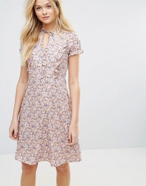 photo Flowa Ditsy Print Dress by Y.A.S, color Withered Rose - Image 1