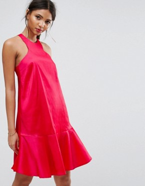 photo Dress with Fluted Hem by Y.A.S Studio, color Teaberry - Image 1