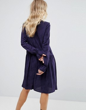 photo Serry Ruffle Long Sleeve Dress by Y.A.S, color Night Sky - Image 2