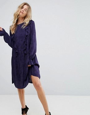 photo Serry Ruffle Long Sleeve Dress by Y.A.S, color Night Sky - Image 1