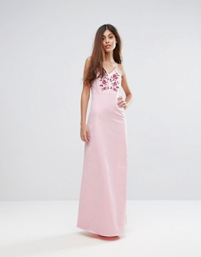 photo Embroidered Maxi Dress by Y.A.S Studio, color Pink - Image 1