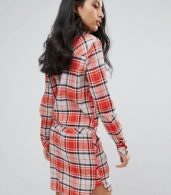 photo Madison Checked Shirt Dress by Pepe Jeans, color Burnt Orange - Image 2