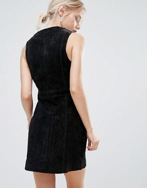 photo Marche Real Suede A-Line Dress by Pepe Jeans, color Black - Image 2