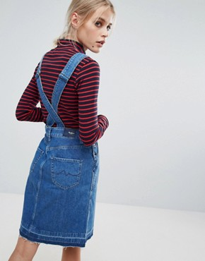 photo Cathy Denim Dungaree Dress by Pepe Jeans, color Denim - Image 2