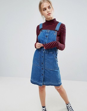 photo Cathy Denim Dungaree Dress by Pepe Jeans, color Denim - Image 1