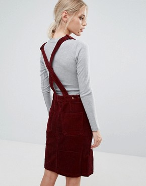 photo Shirley Corduroy Dungaree Dress by Pepe Jeans, color Merlot - Image 2