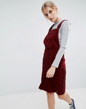 photo Shirley Corduroy Dungaree Dress by Pepe Jeans, color Merlot - Image 1