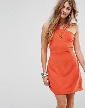 photo Melina Sun Dress by Pepe Jeans, color Burnt Orange - Image 1
