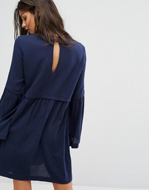photo Embroidered Smock Dress by Suncoo, color Night Blue - Image 2