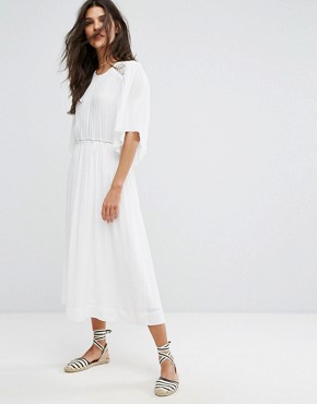 photo Charlotte Lace Back Dress by Suncoo, color White - Image 2