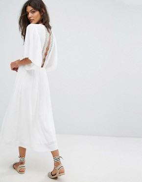 photo Charlotte Lace Back Dress by Suncoo, color White - Image 1