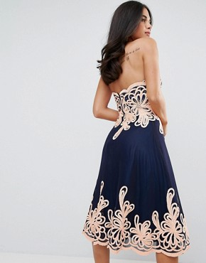 photo Strapless Midi Dress with Baroque by Forever Unique, color Black - Image 2