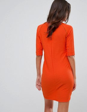 photo V-Neck Shift Dress by b.Young, color Tigerlily - Image 2
