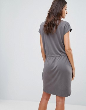 photo T-Shirt Dress with Waist Tie by b.Young, color Asphalt - Image 2