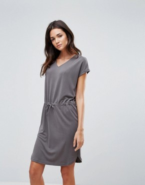 photo T-Shirt Dress with Waist Tie by b.Young, color Asphalt - Image 1