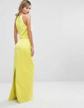 photo Maxi Dress with Chain Neckline by Ted Baker, color Mid Green - Image 2