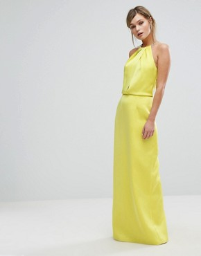 photo Maxi Dress with Chain Neckline by Ted Baker, color Mid Green - Image 1