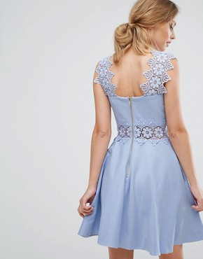 photo Lace Detail A-Line Shift Dress by Ted Baker, color Blue - Image 2