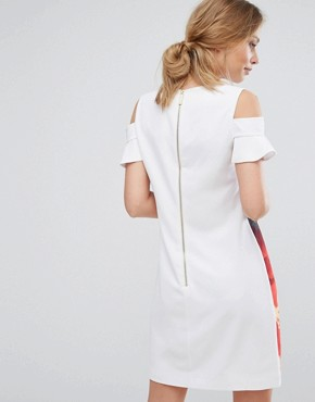 photo Playful Poppy Cut Out Tunic by Ted Baker, color White - Image 2