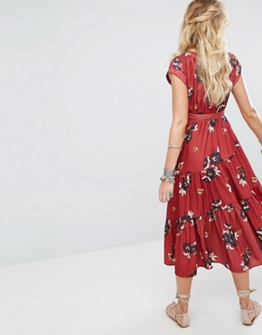 photo All I Got Maxi Dress in Floral Print by Free People, color Red Combo - Image 2