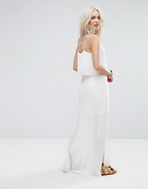 photo Layered Cami Maxi Dress by Pimkie, color White - Image 2