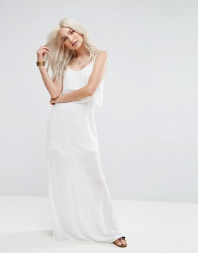 photo Layered Cami Maxi Dress by Pimkie, color White - Image 1