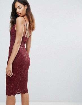 photo Lace Cami Dress by Jessica Wright, color Pink - Image 2