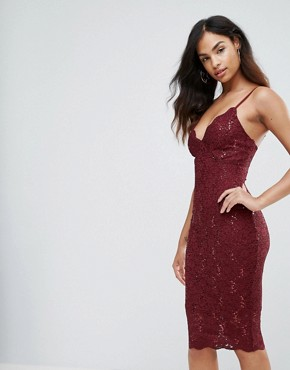 photo Lace Cami Dress by Jessica Wright, color Pink - Image 1