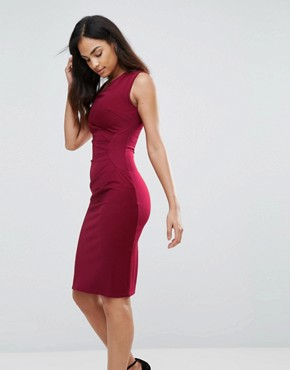 photo Bodycon Midi Dress by Jessica Wright, color Red - Image 1