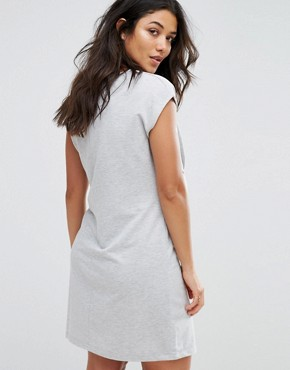 photo Woven Shift Dress with Tassel Detail by Gebe Maternity Nursing, color Grey - Image 2