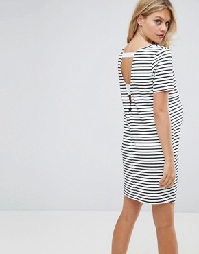 photo Striped Shift Dress with Star Emboridery by Gebe Maternity Nursing, color Multi - Image 2