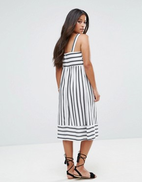 photo Stripe Midi Dress by New Look Maternity, color Black White Pattern - Image 2