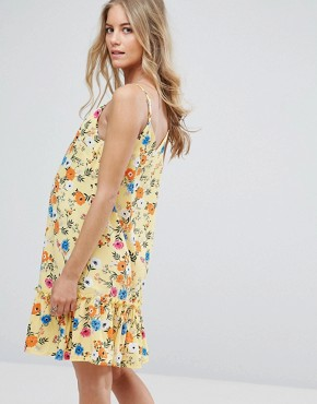 photo Peplum Dress by New Look Maternity, color Yellow Pattern - Image 2