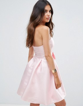 photo Bandeau Prom Dress by Glamorous, color Light Pink - Image 2