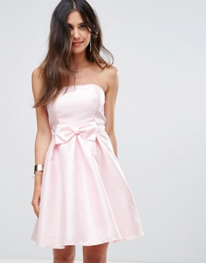 photo Bandeau Prom Dress by Glamorous, color Light Pink - Image 1