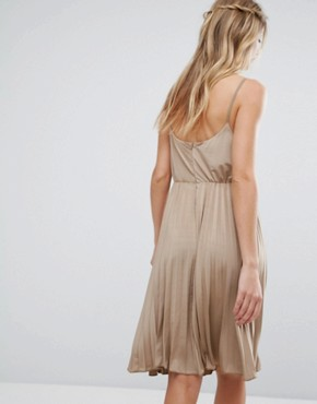 photo Cami Skater Dress by Glamorous, color Beige - Image 2