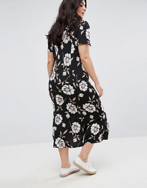 photo City Maxi Tea Dress in Large Floral Print by ASOS CURVE, color Multi - Image 2