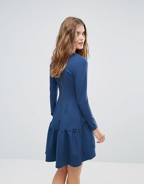 photo Long Sleeve Pephem Dress by Closet London, color Teal - Image 2