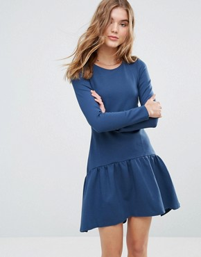 photo Long Sleeve Pephem Dress by Closet London, color Teal - Image 1