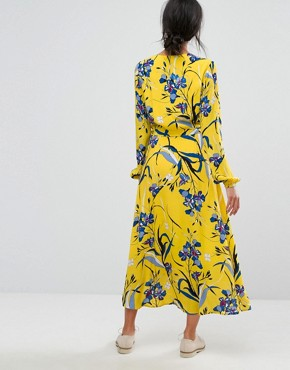 photo Lemon Wrap Dress by Gestuz, color Lemon - Image 2