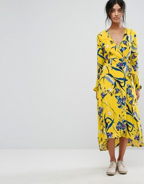 photo Lemon Wrap Dress by Gestuz, color Lemon - Image 1