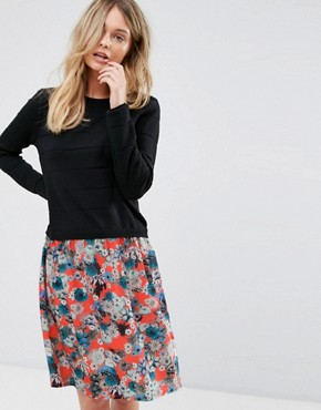 photo Knitted Floral Skirt Dress by PS by Paul Smith, color Floral Multi - Image 1