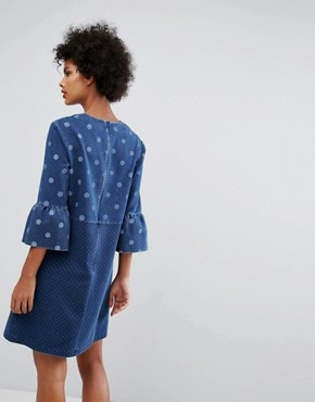 photo Denim Spot Dress by PS by Paul Smith, color Blue - Image 2