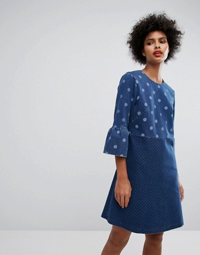 photo Denim Spot Dress by PS by Paul Smith, color Blue - Image 1