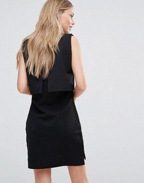 photo Scilla Jacquard Layered Dress by Bellfield, color Black - Image 2