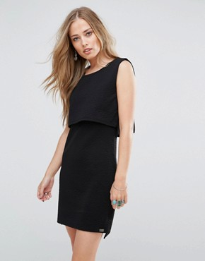 photo Scilla Jacquard Layered Dress by Bellfield, color Black - Image 1